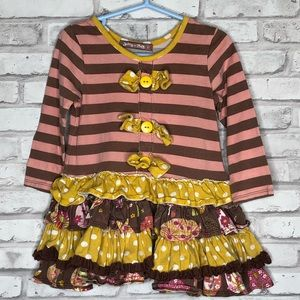 Jelly the Pug Into the woods daisy dress, 2T